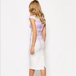 ASOS Dresses - True Violet ASOS Bardot Purple Ombré Gingham Dress